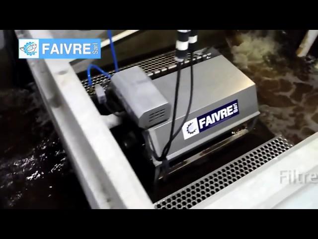 Работа барабанного фильтра серии 80 в резервуаре из нержавеющей стали   FAIVRE RU