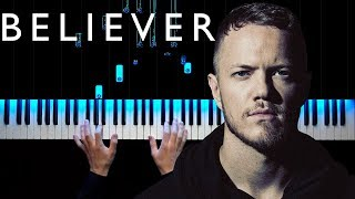 Imagine Dragons - Believer | Piano tutorial | Sheets