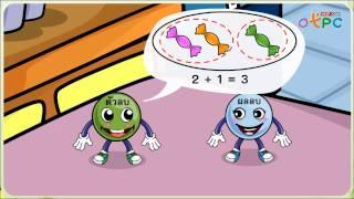 สื่อการเรียนการสอน ความสัมพันธ์ของการบวกและลบ ป.1 คณิตศาสตร์