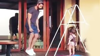 Shahid Kapoor DANCES With Daughter Misha - Just Adorable - Video