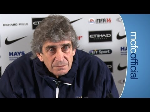 PELLEGRINI ON TRANSFERS: City v Chelsea Press Conference Par