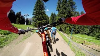 Lenzerheide Switzerland  City pictures : Claudio Caluori's DH Mountain Bike Course Preview POV in Switzerland