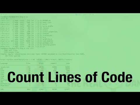 Count Lines of Code (cloc)