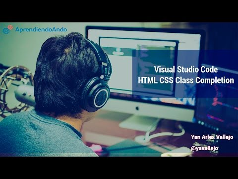 Visual Studio Code  -  HTML CSS Class Completion