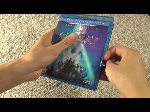 Disney's Atlantis 2 Movie Blu-Ray Collection Unboxing - The Lost Empire Milo's Return