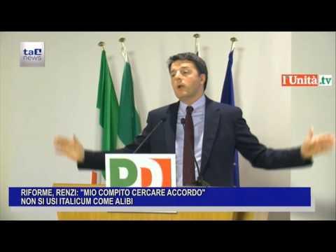 IO COMPITO CERCARE ACCORDO, MA NON SI USI ITALICUM COME ALIBI