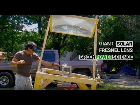 Fresnel Lens Solar Power Foundry Obsidian Farm 3800 ˚ F 2100˚ C Fresnel Optics greenpowerscience