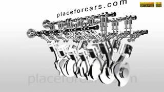 Car Engine V12 Full HD In Motion -3D Animation