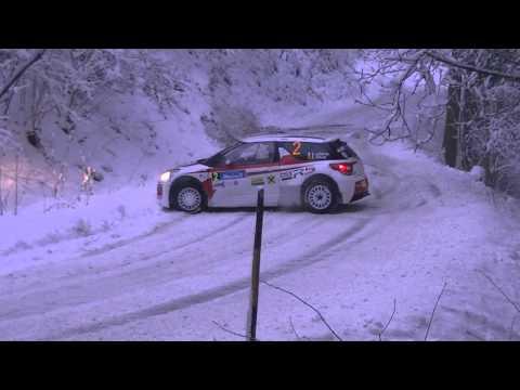 Jänner Rallye 2015 - Stéphane Lefebvre troubles on SS1 Pierbach
