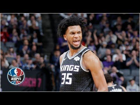 Video: Marvin Bagley III's big dunk, career-high 24 lifts Kings vs. Spurs   NBA Highlights