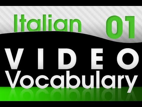 Italienisch lernen - Video Vocabulary # 1