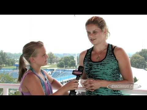 Kim Clijsters brindando algunas declaraciones
