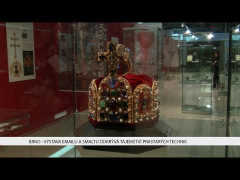 TV Brno 1: 17.11.2017 Výstava emailu a smaltu odkrývá tajemství prastarých technik