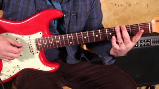 Blues Rhythm Lesson in the Style of Buddy Guy, SRV, BB King, and More Beginner Blues