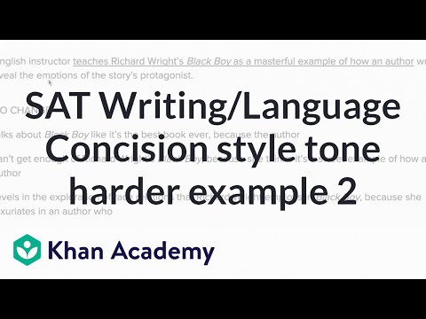 Writing Concision Style And Tone Harder Example 2 Video