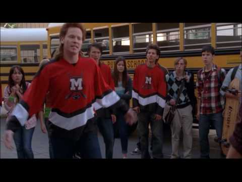 Glee - Puck fights with Rick 'the stick' nelson 3x20 (видео)