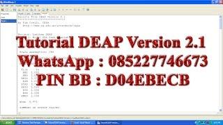 A Data Envelopment Analysis (Computer) Program. This page describes the computer program Tutorial DEAP Version 2.1 which was written by Tim Coelli.Olah Data SemarangWhatsApp : 085227746673PIN BB : D04EBECB