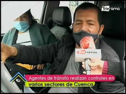 Agentes de tránsito realizan controles en varios sectores de Cuenca
