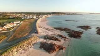 This is an evening flight shortly before sunset on Saturday 6th August 2016, around the Cobo Bay area. You can see the long evening shadows and the glow ...