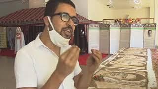 محطة قسنطينة الجهوية..فؤاد بنور أنامل فنية ذهبية تكتشف تقنية الرسم بالتراب #
