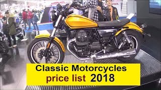 4. Classic motorcycles prices list 2018