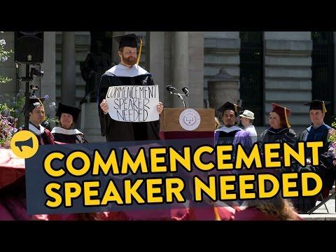 Random Commencement Speaker Prank
