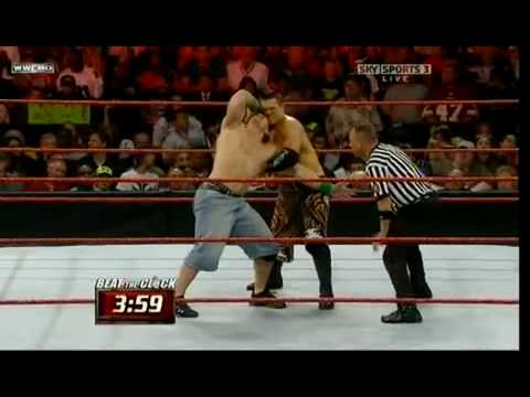 John Cena vs The Miz WWE Monday Night RAW 27 07 09