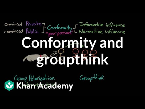 Conformity and groupthink | Behavior | MCAT | Khan Academy
