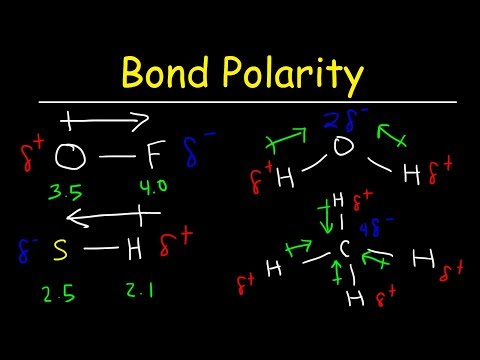 Bond Polarity, Electronegativity and Dipole Moment - Chemistry Practice Problems