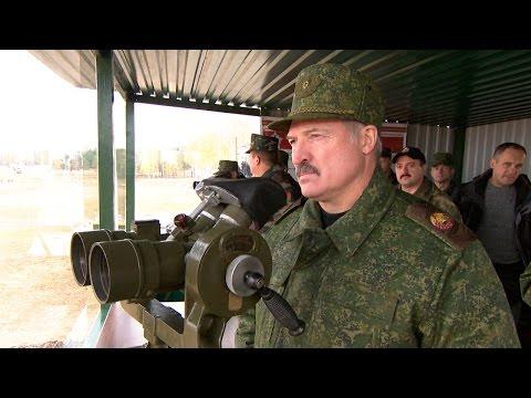 Лукашенко принял участие в проверке уровня подготовки офицеров ВС на Обуз-Лесновском полигоне