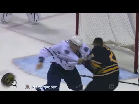stafford - Dion Phaneuf vs Drew Stafford from the Toronto Maple Leafs at Buffalo Sabres game on Sep 26, 2014. via http://www.hockeyfights.com.