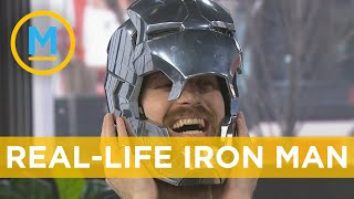 Video YouTuber the Hacksmith shows off his Iron Man helmet, Captain America Shield and more | Your Morning MP3, 3GP, MP4, WEBM, AVI, FLV Mei 2019