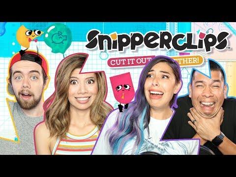 CUTTING FRIENDSHIPS IN HALF w/ Gloom - Snipperclips | Nintendo Switch (видео)