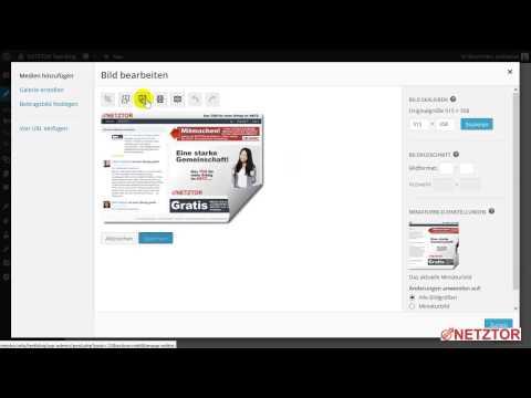 WordPress Artikel Bild Grafik in Artikel hochladen einfügen und Link einbinden Einsteigerkurs