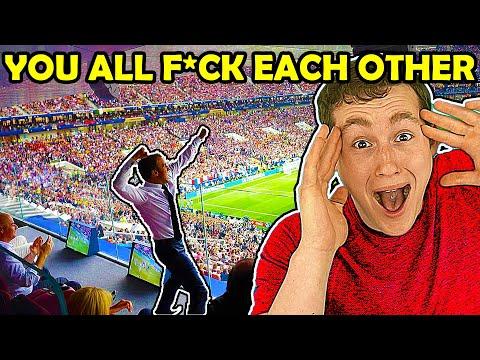 AMERICAN REACTS TO FOOTBALL CHANTS (savage...)