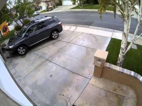 Toyota Highlander crashes into a house
