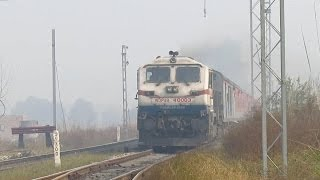 Kuchesar India  City new picture : IRFCA (12435)Dibrugarh - New Delhi Rajdhani Blasts Past Kuchesar Road AT Full MPS................:)