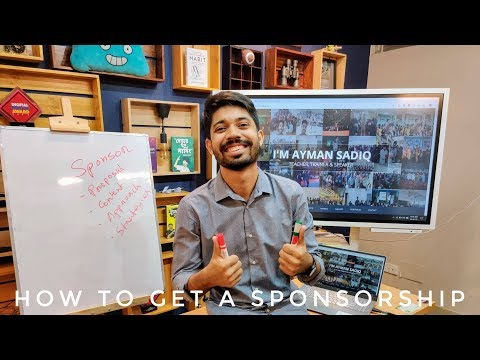 How to get Sponsorship | Different Ways of getting Sponsors
