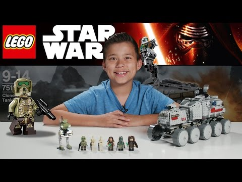 Lego Star Wars Clone Turbo Tank set box and unboxing video