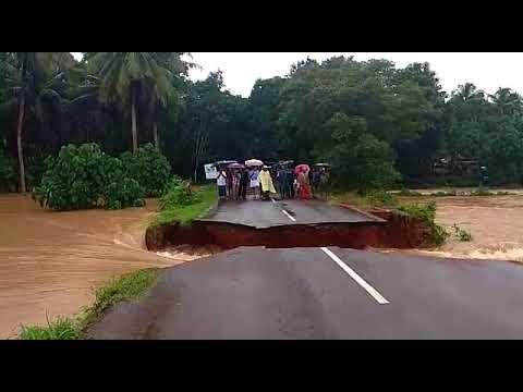 Kerala Flood Road Washed Away ।। 22 Dead in Heavy Rain