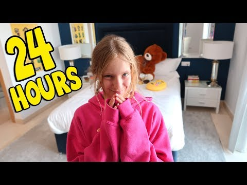 24 Hours Overnight in My Brothers Room!!!! (видео)