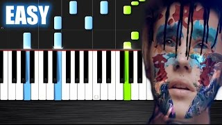 Skrillex and Diplo - Where Are Ü Now feat. Justin Bieber - EASY Piano Tutorial  Ноты и М�Д� (MIDI) м