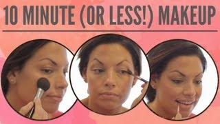 Learn how to create a flawless finish for the girl on the go in 10 minutes or less. -----------------------------------------------------------CONNECT WITH ME-----------------------------------------------------------facebook: http://www.facebook.com/Always-Blushingblog: http://www.alwaysblushing.com/