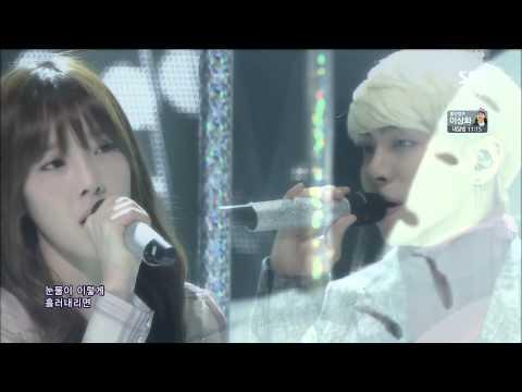 [20140216] SM The Ballad _ Breath ( Taeyeon & Jonghyun ) [ SBS 人氣歌謠] [LIVE] [HD] (видео)