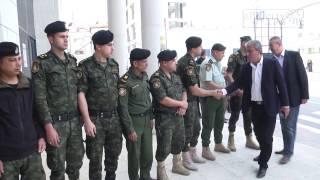 تقديم واجب العزاء باستشهاد الملازم حسن أبو الحاج في مقر الأمن الوطني