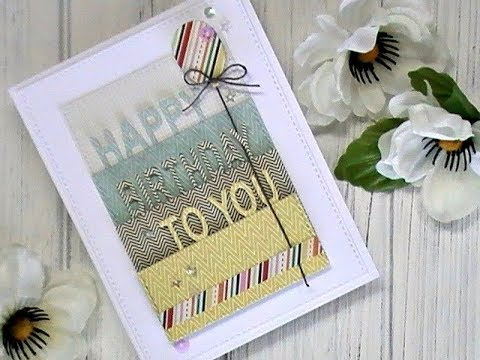 Birthday wishes for best friend - Happy Day Series / Using What's In Our Stash / Happy Birthday Card with Patterned Paper