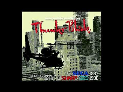 Thunder Blade Sharp X68000 HD