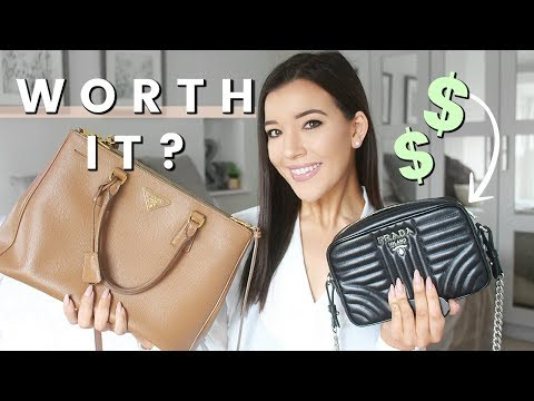 BEST DESIGNER HANDBAGS ACTUALLY WORTH THE MONEY | PRADA SAFFIANO, PRADA DIAGRAMME & GUCCI SOHO DISCO