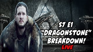 "Lets Chat Game Of Thrones Season 7 Episode 1 Dragonstone!!! This is my initial breakdown and review of the Season 7 Premiere LIVE! Lets discuss the best moments and what our favorite moments are!10k SUBS GIVE-A-WAY!! SUBSCRIBE!!!http://bit.ly/1Wo7tb0Patreon SupportPatreon.com/serhuntsreviewsJon Snow a ""FIRE WIGHT""https://youtu.be/XTZCsilgWT4Dark Sister TEASED?!https://youtu.be/TmYx4BxhNbMMAJOR Spoilers REVEALED!!https://youtu.be/8TR6NFyBkRMEpisode Titles RELEASED!https://youtu.be/IyW_vaL3wB8Follow Me on Twitter for DAILY updates!http://bit.ly/1X0jLoWSeason 7 Trailer BREAKDOWNhttps://youtu.be/nYxJKVLCZl4OFFICAL SEASON 7 TRAILER In-Depth Analysishttps://www.youtube.com/watch?v=vrCx3V0VPTUTyrion DRAGON RIDER?!https://youtu.be/9LsMBjEtb-cGoT Spin-off Rumors Debunked!https://youtu.be/8TobRvpzEvgVoice In The Flames!?https://youtu.be/taEOAuN9KPwThe NIght King Is A WARG?!https://youtu.be/ydly-akdjWQReligious Counterparts?!https://youtu.be/kjjZAkSSShwGendry's Unexpected Journeyhttps://youtu.be/ErS8m5CThMoSeason 7 Deathtollhttps://youtu.be/0MBfMNoVMeMIs Arya At Home In This Picture?https://youtu.be/Us1wseJy74cWhat Is The Jade Compendium?https://youtu.be/NatJNPF_K_cCrypts Of Winterfell?!https://youtu.be/G0g1fJpS4lUOfficial Season 7 Imageshttps://youtu.be/YIg_sa8nYNcSeason 7 Theories, and Foreshadowing!Dragons the SIZE of PLANES!?https://youtu.be/3rhRU3URNzEWho Is Azor Ahai Really?!https://youtu.be/7W1HS-5wGr0SXSW Panel Review!https://youtu.be/Pj4TwmU43IcCasterly Rock Season 7!https://youtu.be/rEax42nGCHASUBSCRIBE PLEASE!!http://bit.ly/2j7sqXpClick here for more!http://bit.ly/1Wo7tb0Friend Me on Facebookhttp://bit.ly/1rUsKfrI dont own the rights, images AND MUSIC  to Game Of Thrones.(Property of HBO) (Property of George RR Martin) Everything here is used under fair use."
