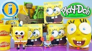 Play Doh Spongebob Squarepants Mystery Figure Toys Imaginext Pirate Ship Toy Play Dough Surprise Egg